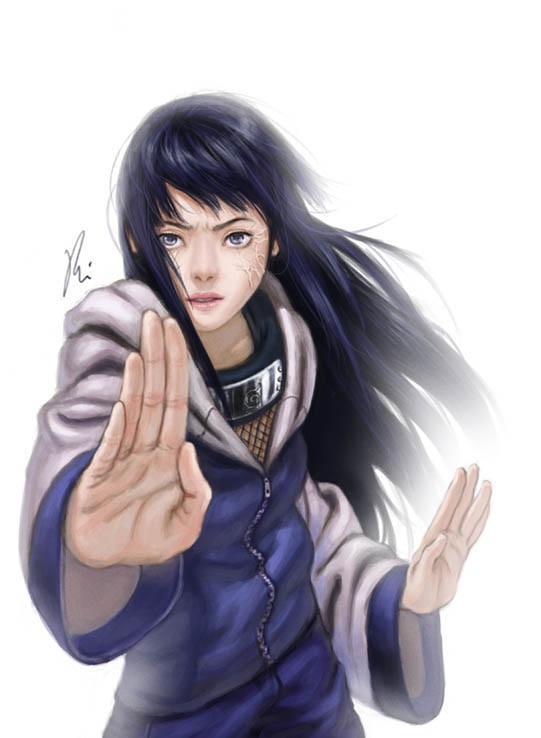 Взрослая Хината арт картинки из Наруто (17)