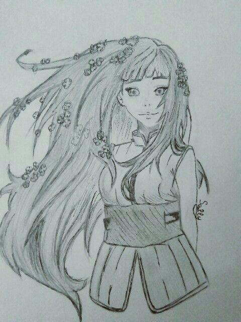 Взрослая Хината арт картинки из Наруто (9)