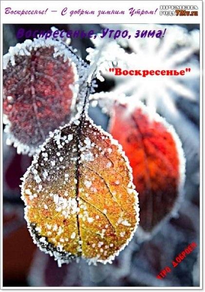 Картинки с добрым зимним утром воскресенья 15