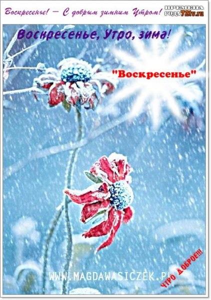 Картинки с добрым зимним утром воскресенья 23