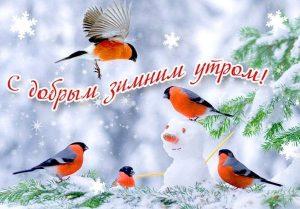 Картинки с добрым зимним утром воскресенья 24