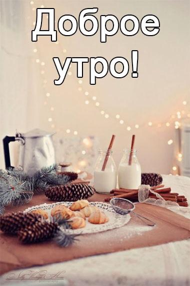 Красивые с добрым утром, зимние интересные картинки 12