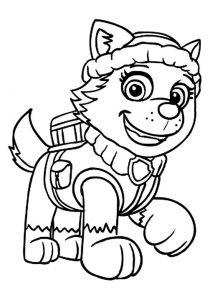 Скай раскраска щенячий патруль, красивые картинки 11