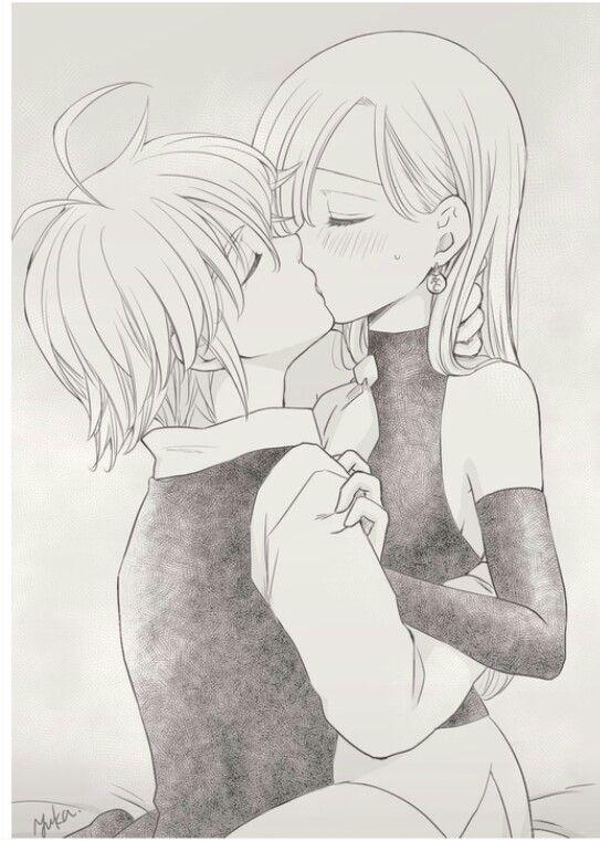 Элизабет и Мелиодас поцелуй арт картинки (21)