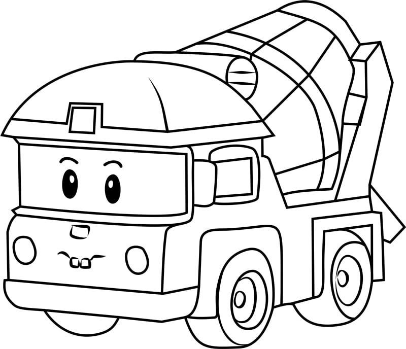 раскраски команда спасателей поли робокар, для детей 06