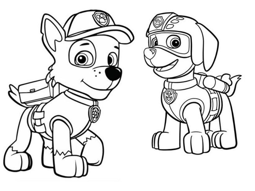 раскраски щенячий патруль рокки, топовые картинки 10