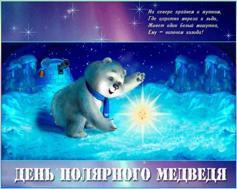 День белого медведя, красивые картинки поздравления 6