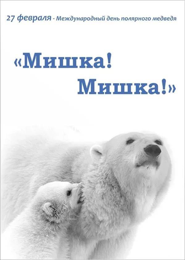 День белого медведя, красивые картинки поздравления 7
