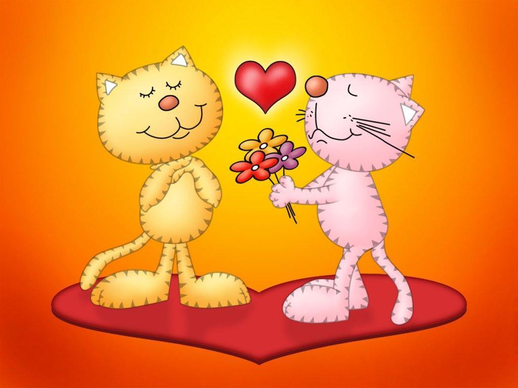 Красивые открытки на 14 февраля для девушки, поздравления (5)