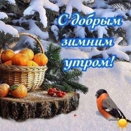 Красивые открытки с добрым зимним утром для мамы (11)