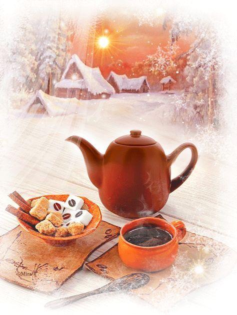 Открытки с добрым и теплым утром февраля   большая подборка (20)