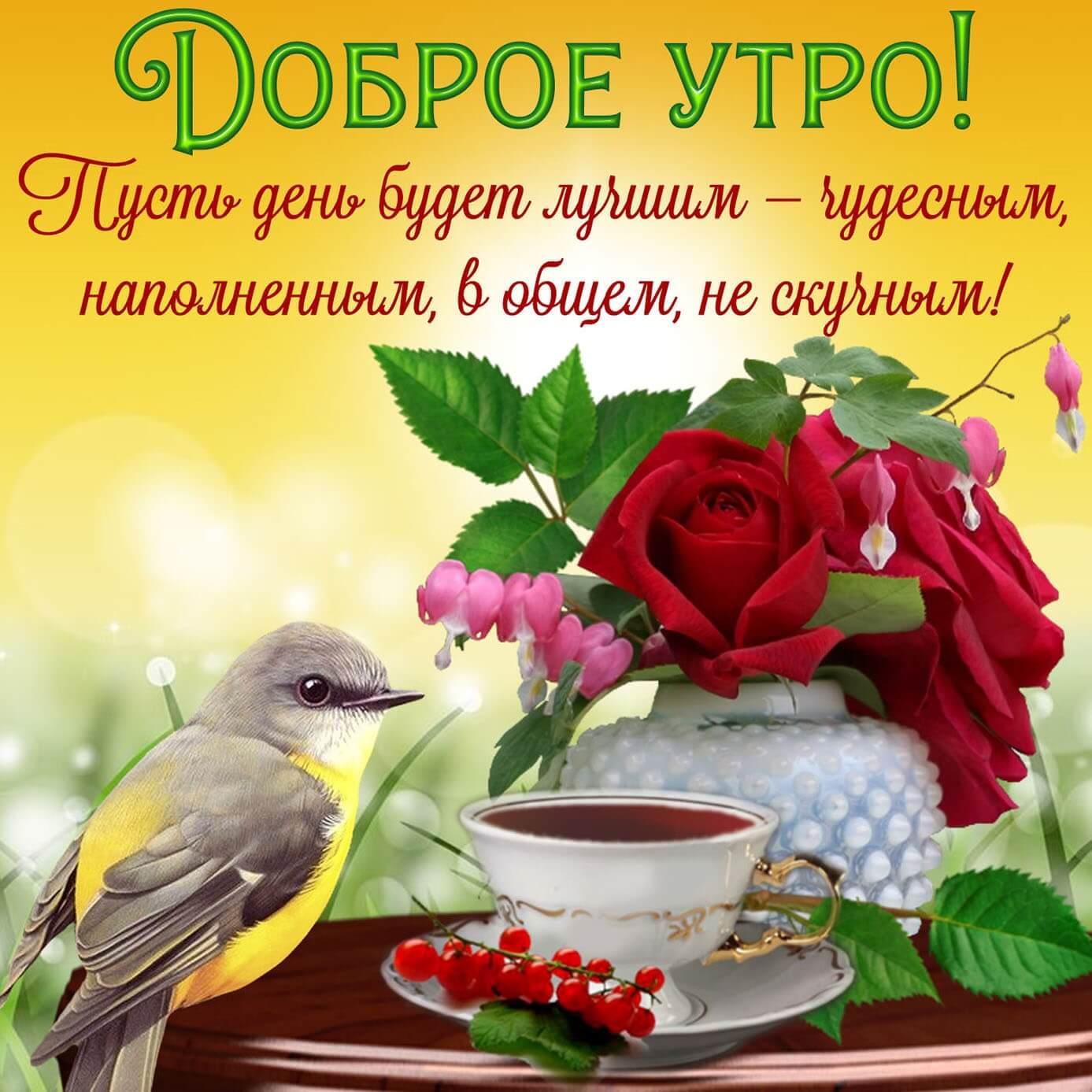 Скачать открытку с добрым утром и хорошего настроения 05