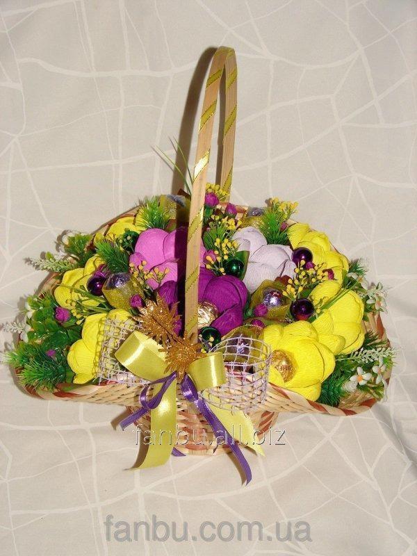 Красивые букеты желто фиолетовые   подборка фото (12)