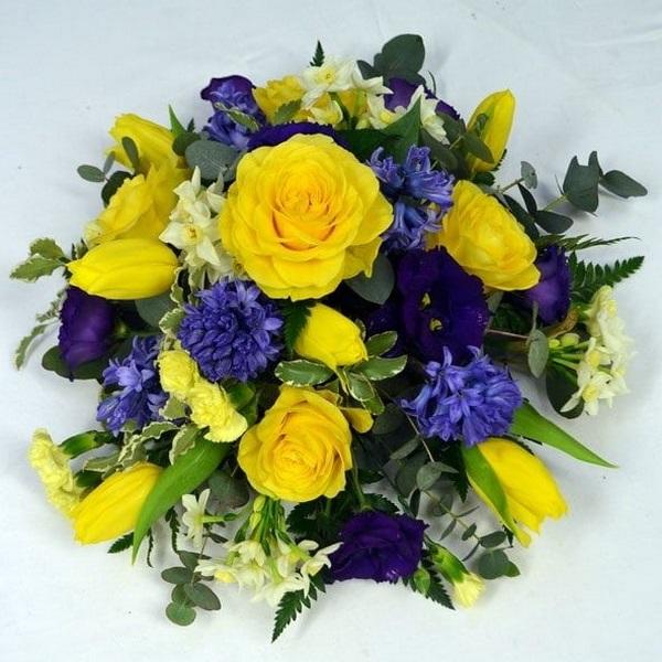 Красивые букеты желто фиолетовые   подборка фото (15)