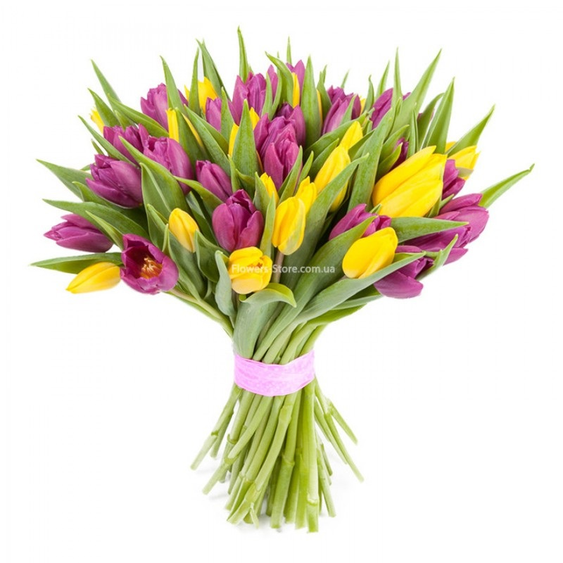 Красивые букеты желто фиолетовые   подборка фото (19)