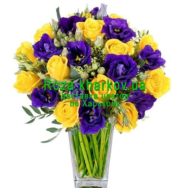 Красивые букеты желто фиолетовые   подборка фото (23)