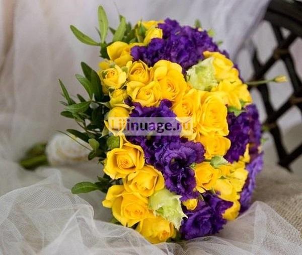 Красивые букеты желто фиолетовые   подборка фото (24)