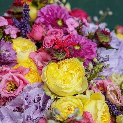 Красивые букеты желто фиолетовые   подборка фото (27)