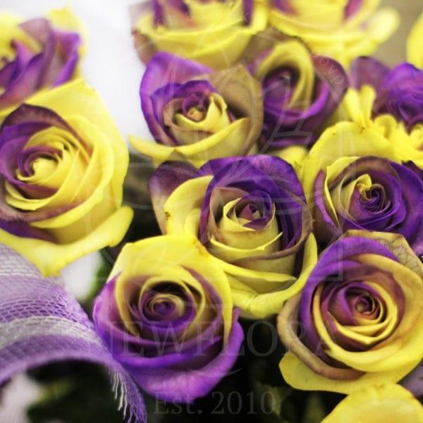 Красивые букеты желто фиолетовые   подборка фото (28)