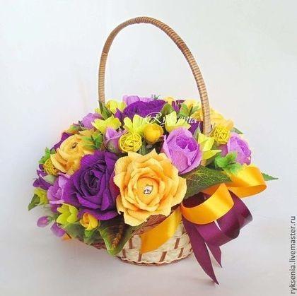 Красивые букеты желто фиолетовые   подборка фото (9)