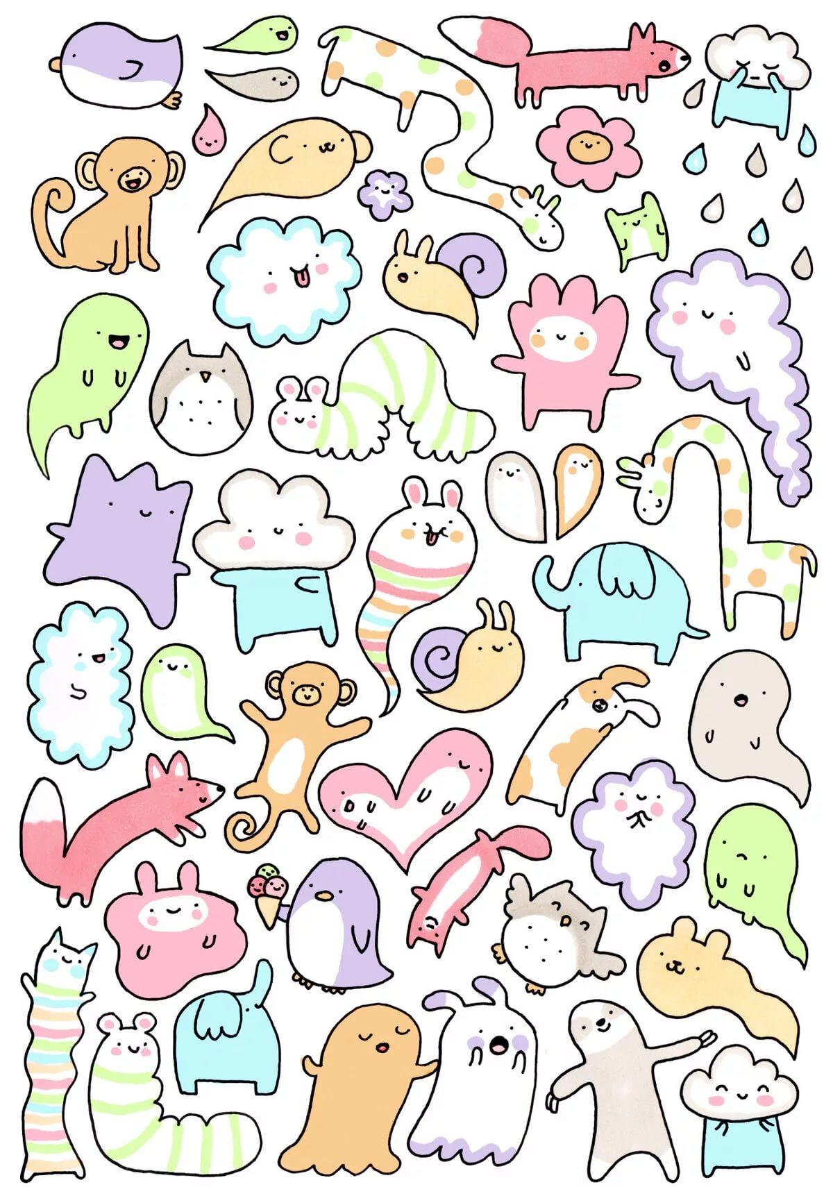 Милые и легкие рисунки для срисовки   самые красивые 1