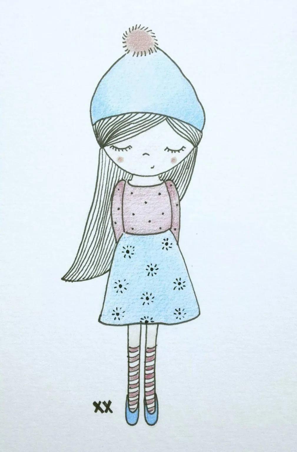 Милые и легкие рисунки для срисовки   самые красивые 18