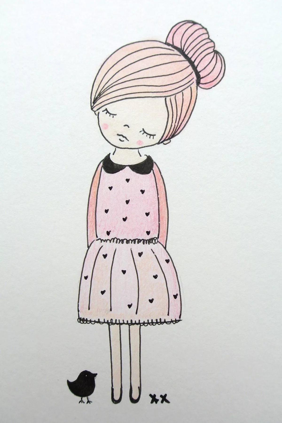 Милые и легкие рисунки для срисовки   самые красивые 8