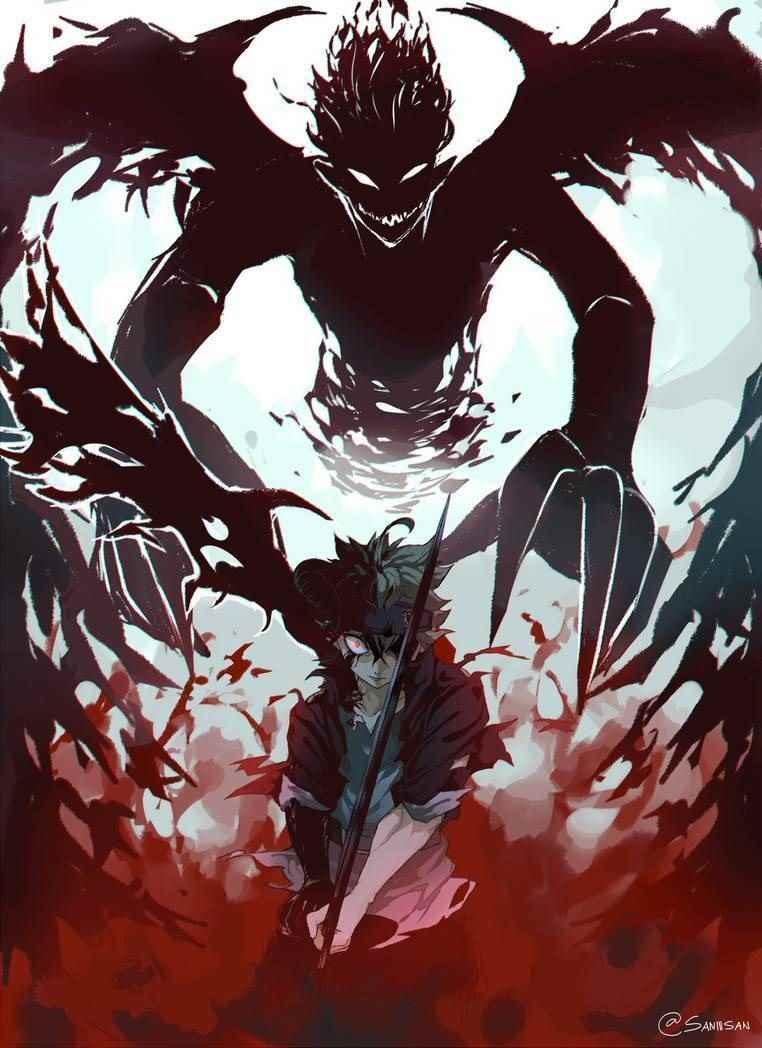 Аста черный клевер демон, арт 01