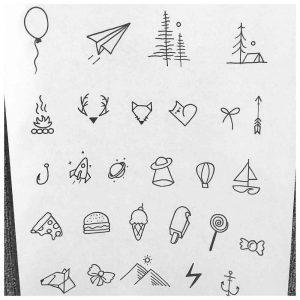 Картинки маленькие тату для срисовки 21