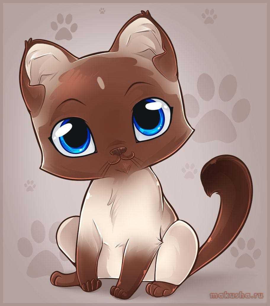 Картинки милые котики для рисования 04