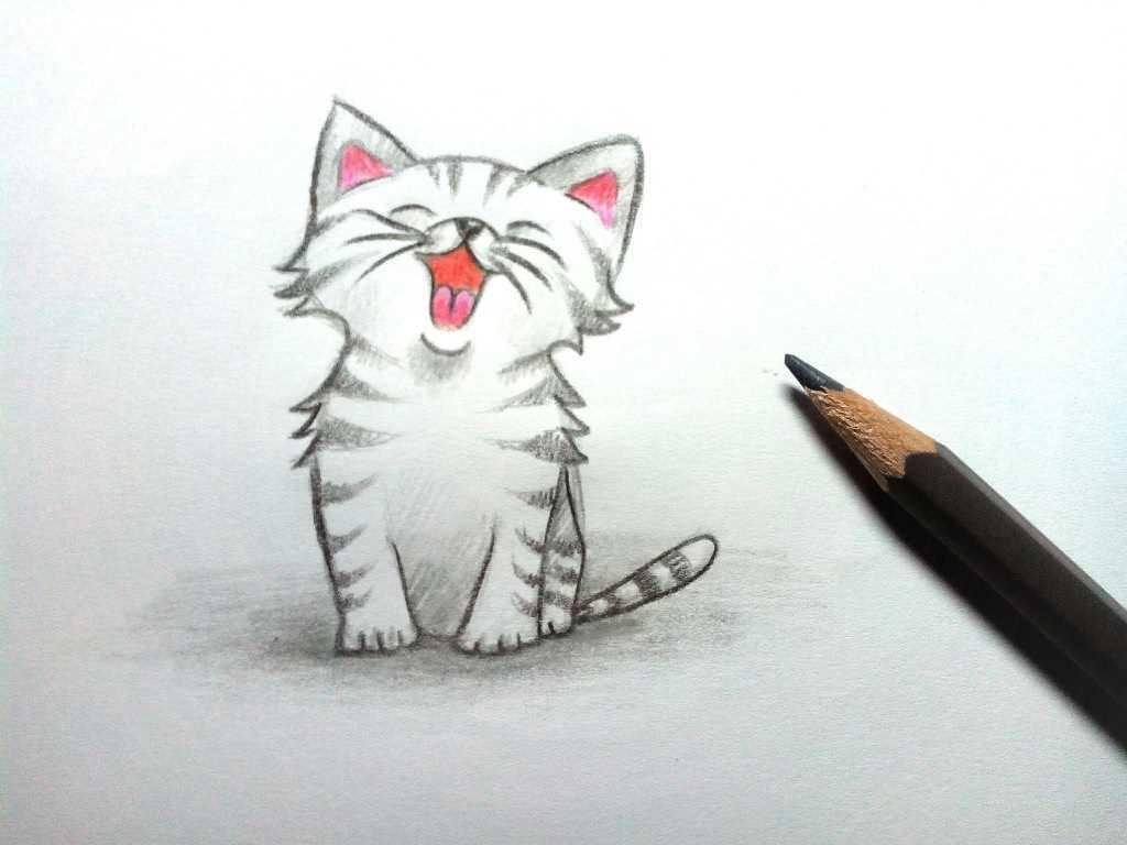 Картинки милые котики для рисования 07