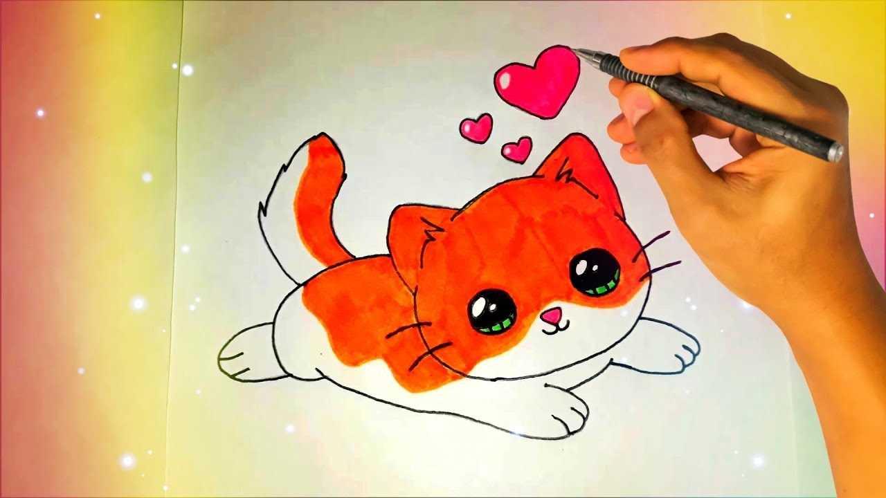 Картинки милые котики для рисования 09