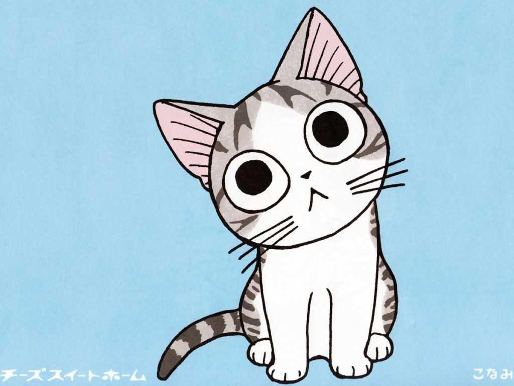Картинки милые котики для рисования 10