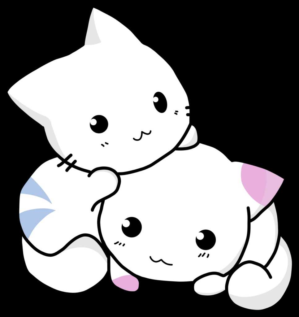 Картинки милые котики для рисования 15