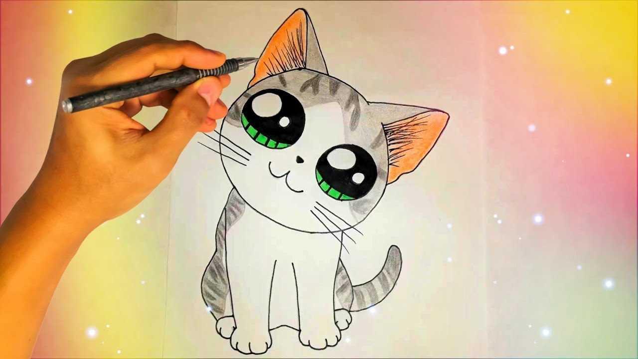 Картинки милые котики для рисования 17