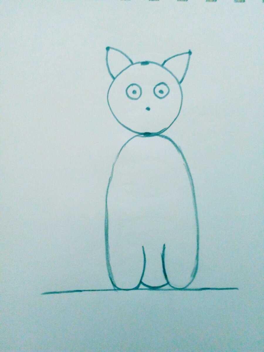 Картинки милые котики для рисования 19