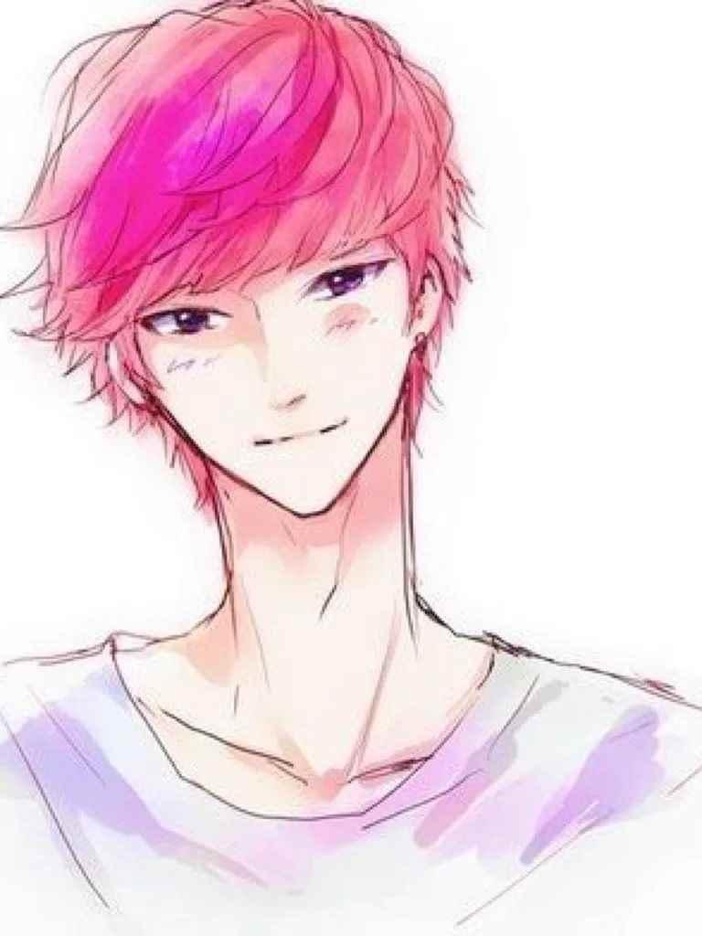 Красивые аниме арты парней с волосами 01