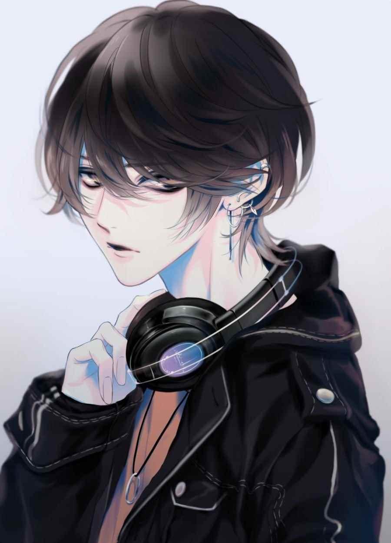 Красивые аниме арты парней с волосами 03