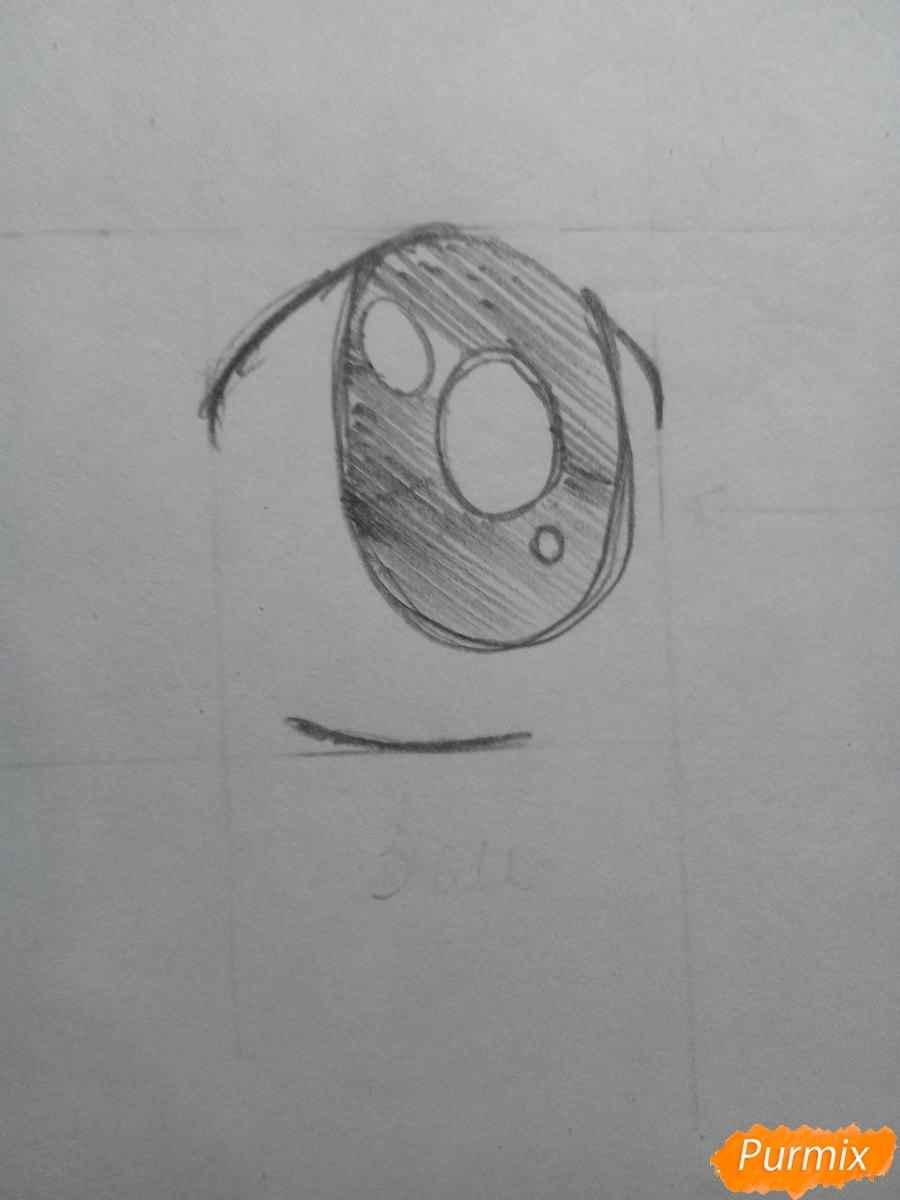 Красивые аниме глаза для срисовки, легкие 01