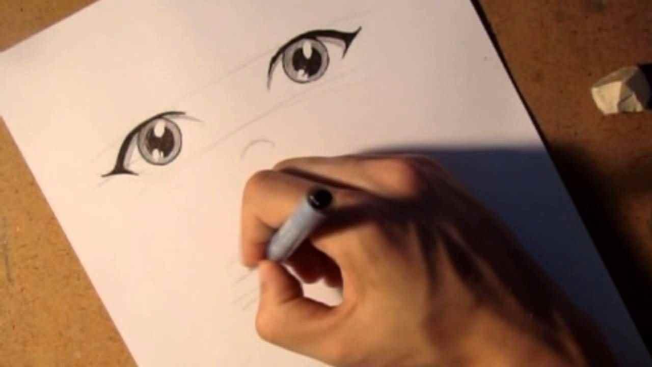 Красивые аниме глаза для срисовки, легкие 02