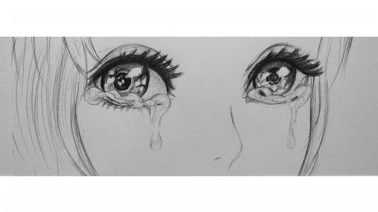 Красивые аниме глаза для срисовки, легкие 05