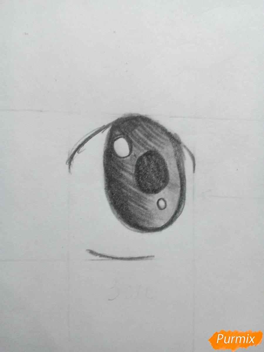 Красивые аниме глаза для срисовки, легкие 06