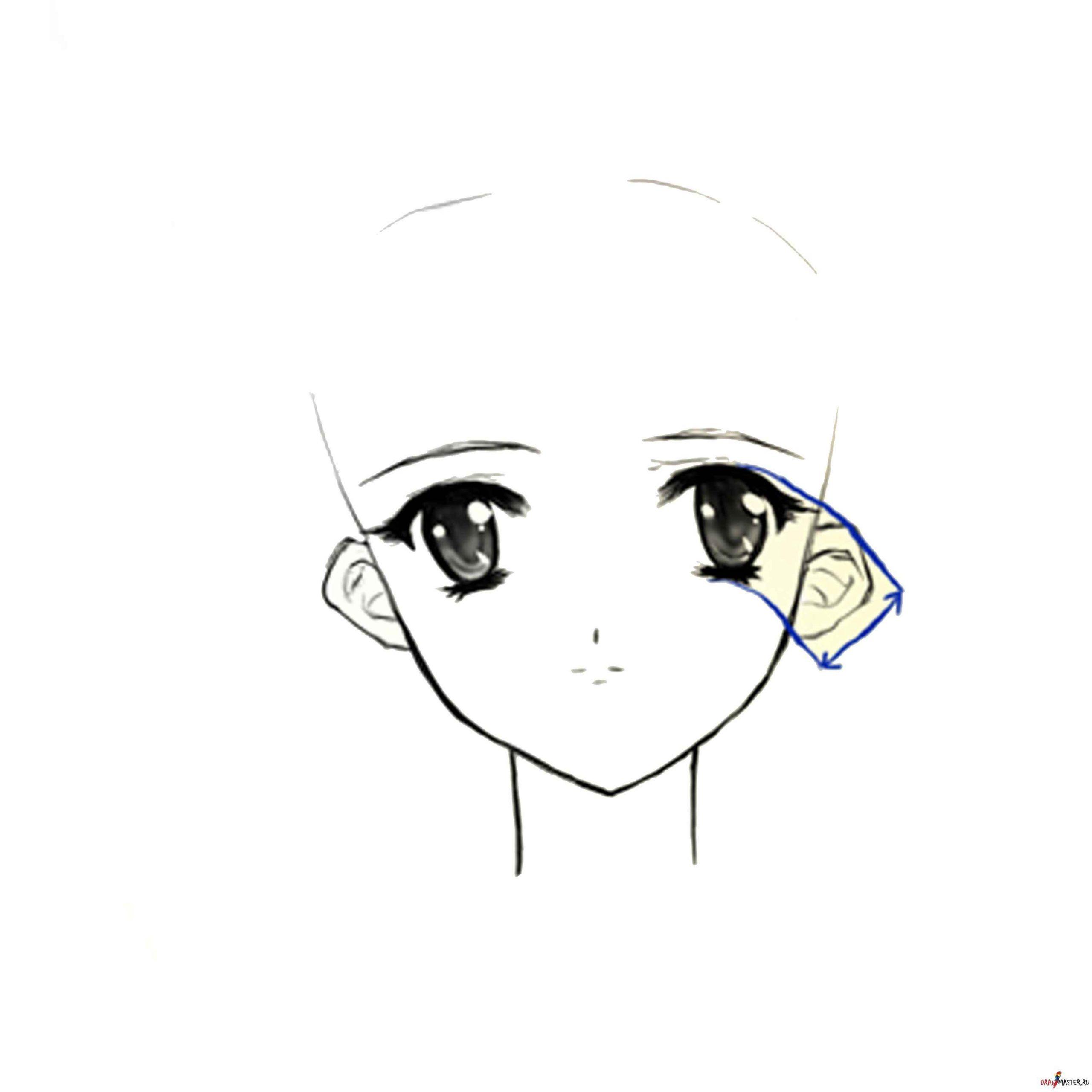 Красивые аниме глаза для срисовки, легкие 08