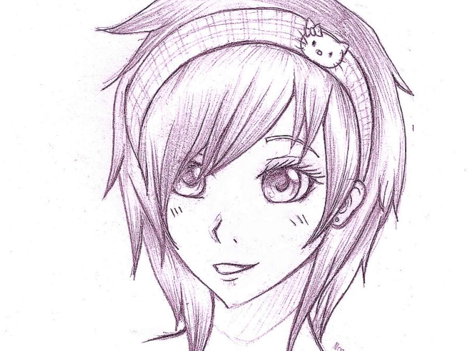 Красивые аниме глаза для срисовки, легкие 09
