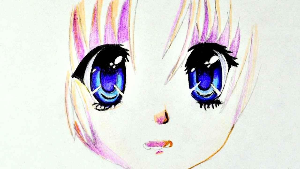 Красивые аниме глаза для срисовки, легкие 12
