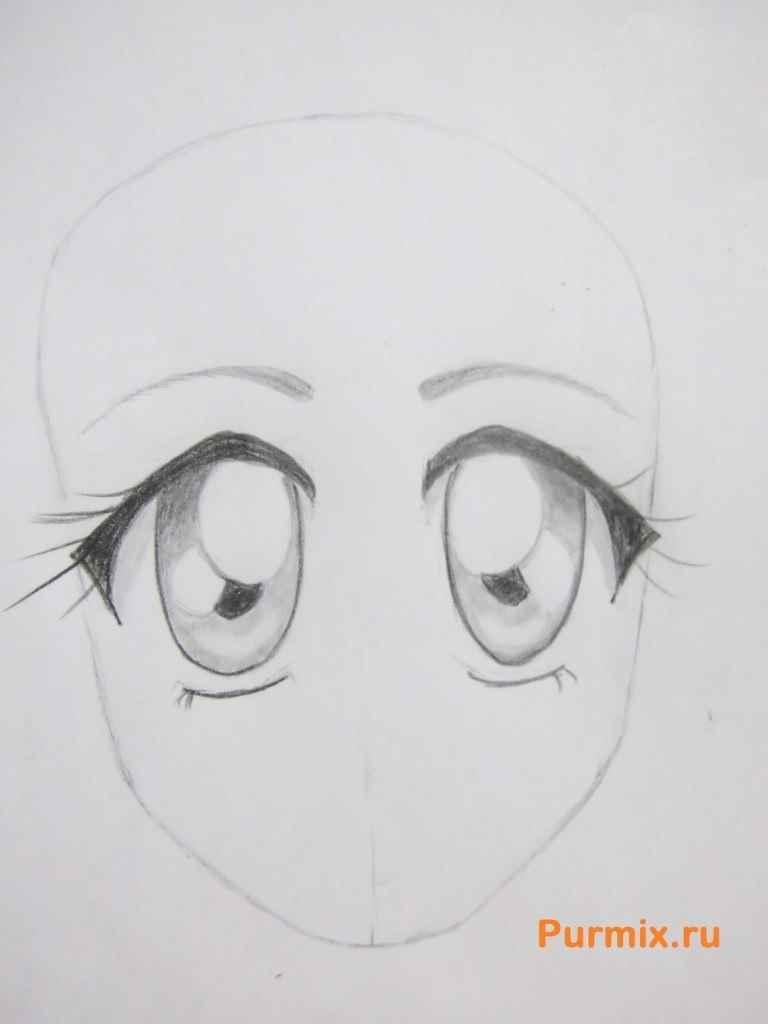 Красивые аниме глаза для срисовки, легкие 18