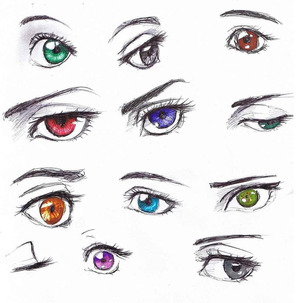 Красивые аниме глаза для срисовки, легкие 19