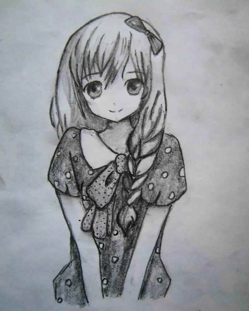 Красивые аниме девушки для срисовки, рисунки 07