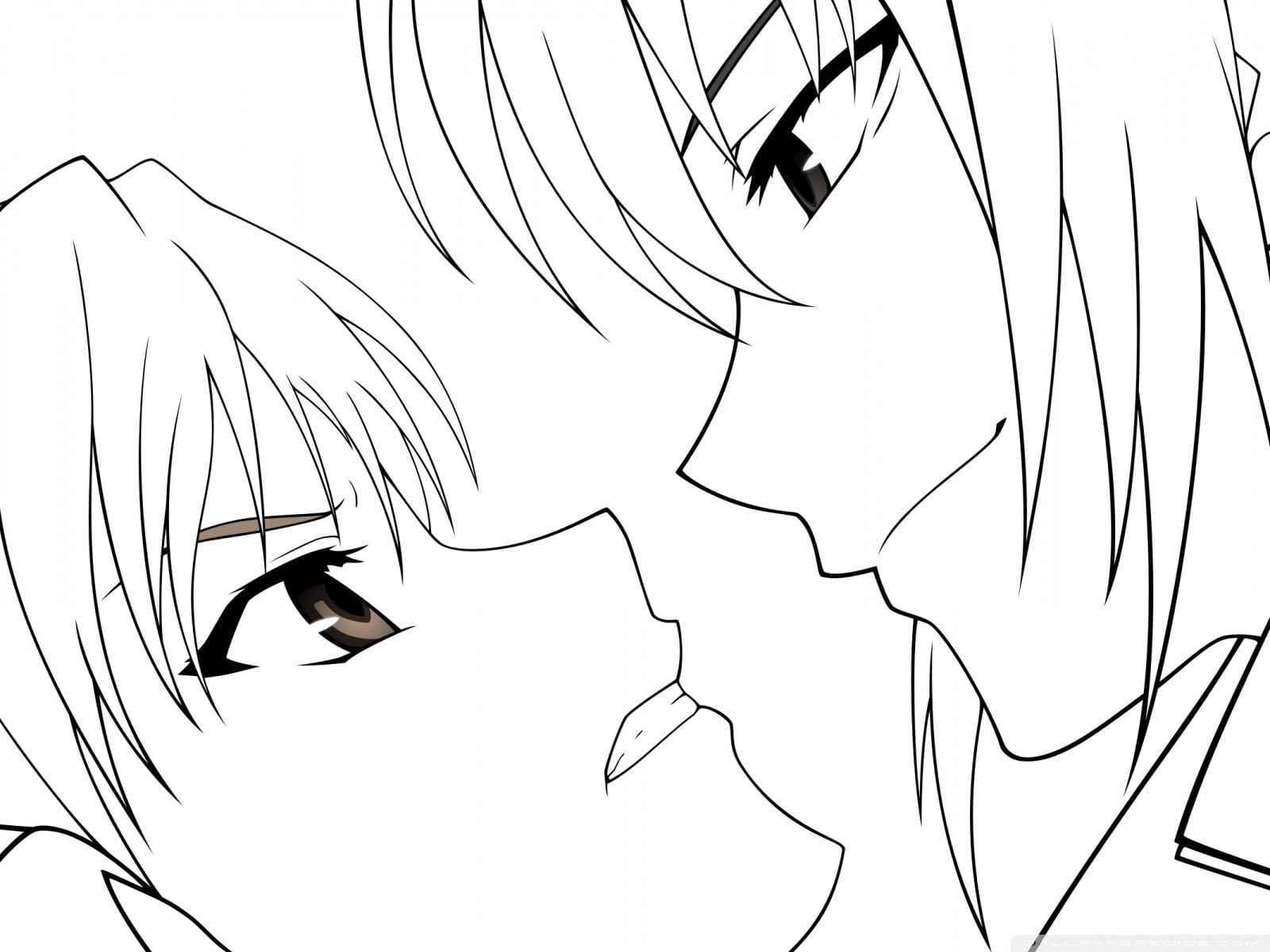 Красивые аниме девушки для срисовки, рисунки 08