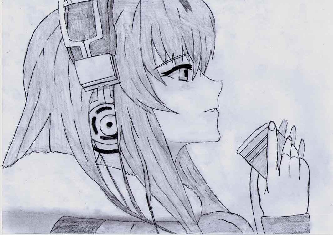 Красивые аниме девушки для срисовки, рисунки 12